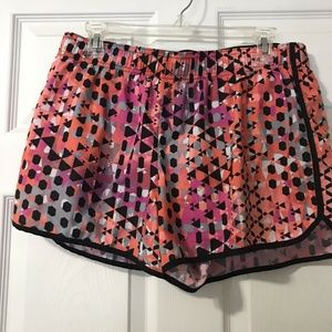Victorias Secret Sport Shorts Large Pink Black